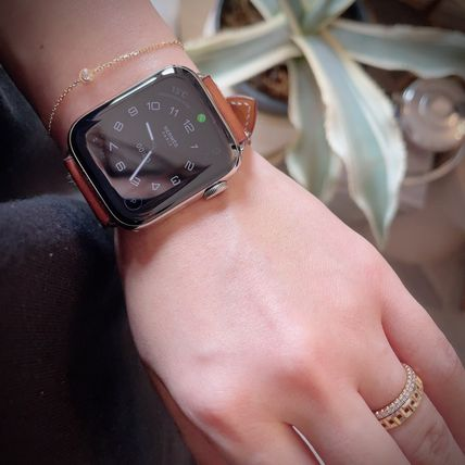 HERMES Leather Party Style Office Style Elegant Style Watches