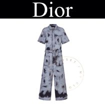 Christian Dior Casual Style Street Style Tie-dye Cotton Short Sleeves