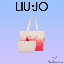 LIU JO Blended Fabrics A4 Logo Neon Color Icy Color Shoppers