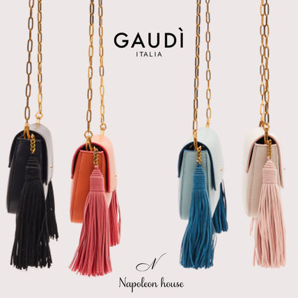 Casual Style Suede Faux Fur Blended Fabrics Tassel 2WAY
