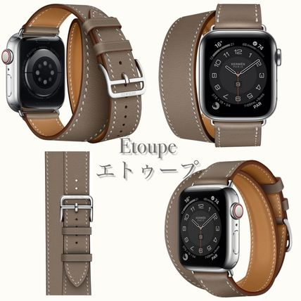HERMES Double Sens Leather Party Style Office Style Elegant Style Watches
