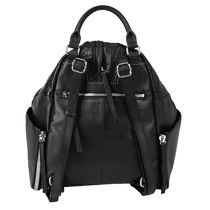 DIESEL 2WAY Plain Leather Logo Backpacks