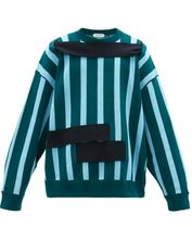 NAMACHEKO Crew Neck Pullovers Stripes Long Sleeves Cotton Sweaters