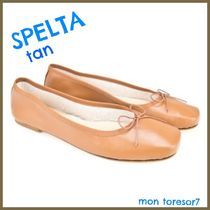 SPELTA Plain Leather Ballet Shoes