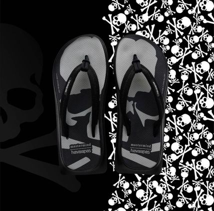 Skull Unisex Street Style Collaboration Flipflop Sandals