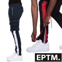 EPTM Tapered Pants Unisex Nylon Street Style Plain Cotton