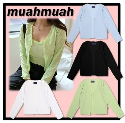 muahmuah Casual Style Street Style Cardigans