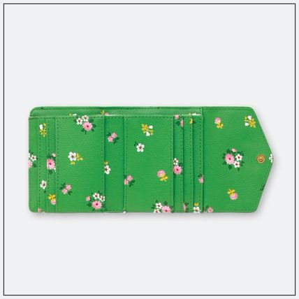 Flower Patterns PVC Clothing Folding Wallet Small Wallet