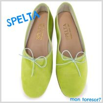 SPELTA Suede Plain Ballet Shoes