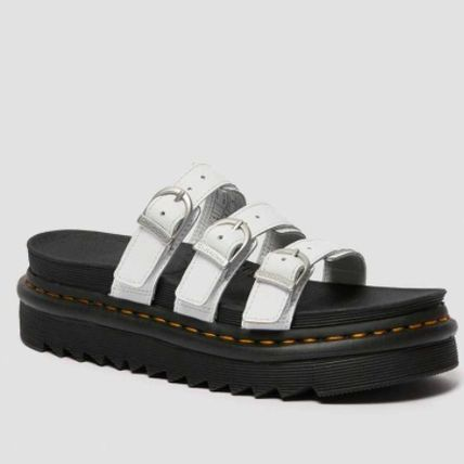 Dr Martens BLAIRE Open Toe Casual Style Plain Leather Footbed Sandals