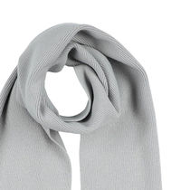Jil Sander Plain Logo Knit & Fur Scarves