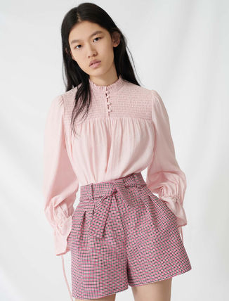 Formal Style  Short Gingham Casual Style Party Style