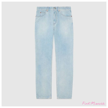 GUCCI More Jeans Regular Fit Stone-Bleached Jeans