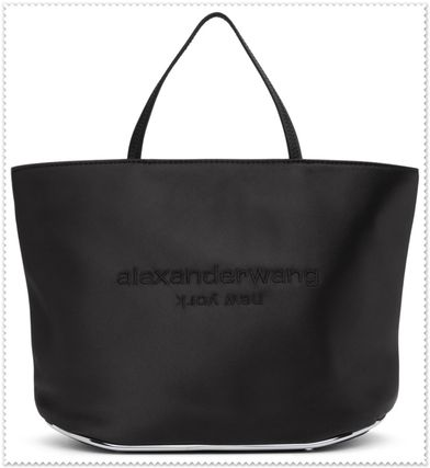 Logo Casual Style Plain Office Style Elegant Style Totes
