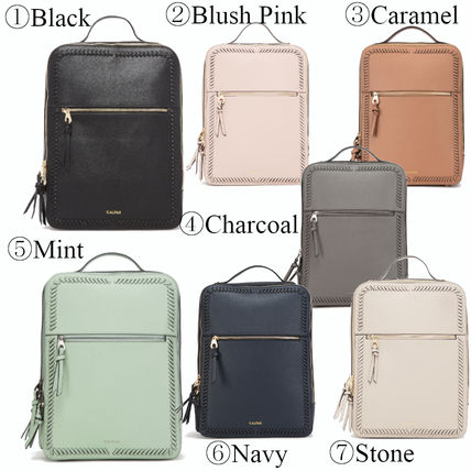 Casual Style Faux Fur 2WAY Plain Backpacks