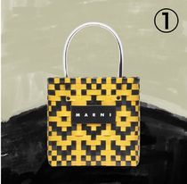 MARNI MARNI MARKET Other Plaid Patterns Casual Style Unisex Calfskin