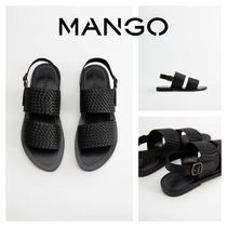 MANGO Rubber Sole Leather Sandals