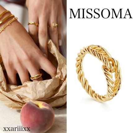 Costume Jewelry Casual Style Silver 18K Gold Rings