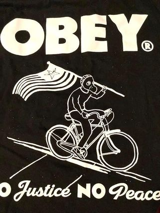 OBEY More T-Shirts Tropical Patterns Street Style Cotton Short Sleeves Logo 3