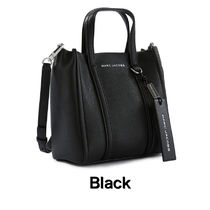 MARC JACOBS THE TAG TOTE A4 2WAY Plain Leather Logo Totes