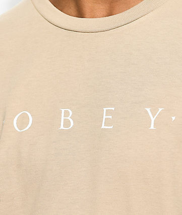 OBEY Tropical Patterns Street Style Cotton Short Sleeves Logo
