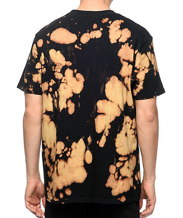 OBEY Street Style Tie-dye Cotton Short Sleeves Logo T-Shirts