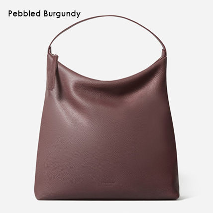 Casual Style Unisex A4 Plain Leather Office Style Handbags