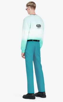 GIVENCHY Pullovers Street Style Boat Neck Long Sleeves Plain Cotton