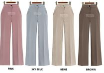 Casual Style Plain Office Style Pants
