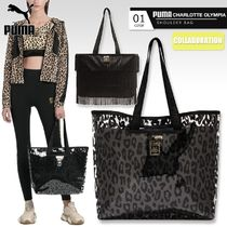 PUMA Leopard Patterns Casual Style Collaboration 2WAY Fringes