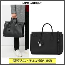 Saint Laurent SAC DE JOUR Calfskin A4 2WAY Plain Leather Logo Business & Briefcases