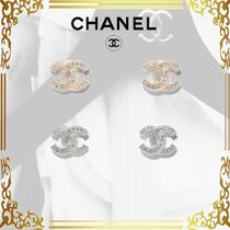 CHANEL Casual Style Elegant Style Earrings