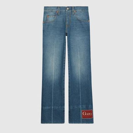 GUCCI More Jeans Marble Washed Denim Flare Pant 3