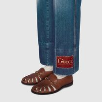 GUCCI More Jeans Marble Washed Denim Flare Pant 7