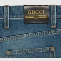 GUCCI More Jeans Marble Washed Denim Flare Pant 9