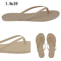 TKEES Open Toe Rubber Sole Casual Style Street Style Plain
