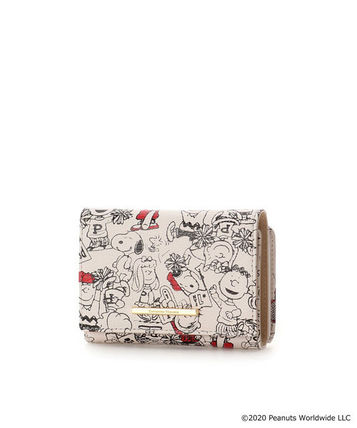 Plain Other Animal Patterns Leather Logo Folding Wallets