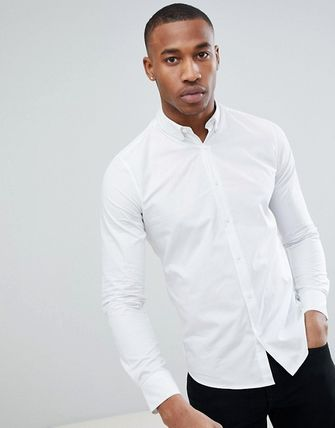 ASOS Shirts Only & Sons Stretch Poplin Button Down Shirt In White 2