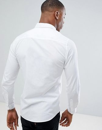 ASOS Shirts Only & Sons Stretch Poplin Button Down Shirt In White 3