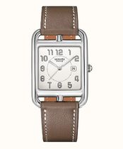 HERMES Leather Square Quartz Watches Elegant Style Analog Watches