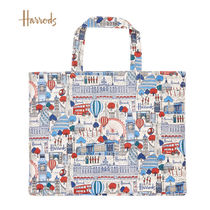 Harrods Casual Style Canvas A4 Logo Totes