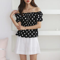 Dots Off the Shoulder