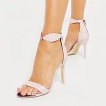 TED BAKER Open Toe Plain Leather Pin Heels Party Style Elegant Style
