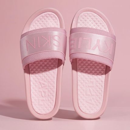 Casual Style Street Style Plain Elegant Style Slippers Logo