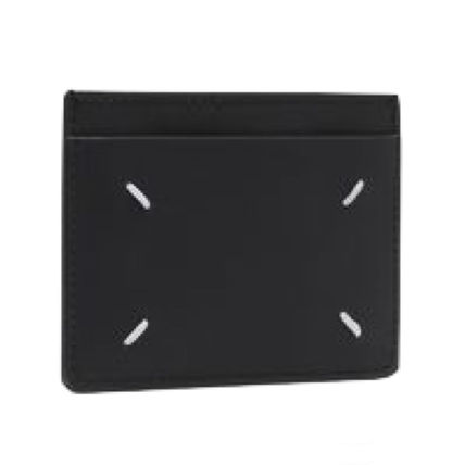Maison Margiela Calfskin Leather Logo Card Holders