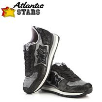 Atlantic STARS Star Rubber Sole Casual Style Enamel Suede Blended Fabrics
