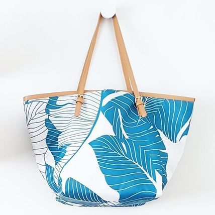 Tropical Patterns Casual Style A4 Totes