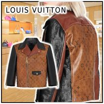 Louis Vuitton Tattoo Monogram Cropped Leather Biker Jacket