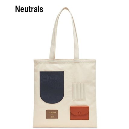 Casual Style Blended Fabrics A4 Leather Office Style Totes