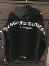 CHROME HEARTS Pullovers Unisex Street Style Long Sleeves Logo Hoodies